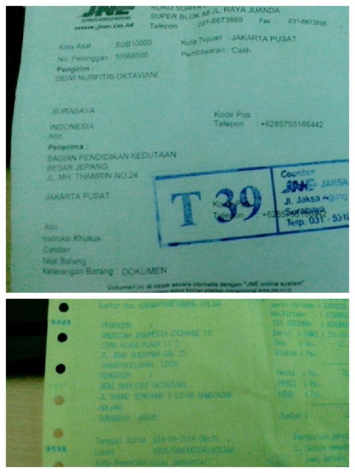 Done Sending Document Application for Scholarship