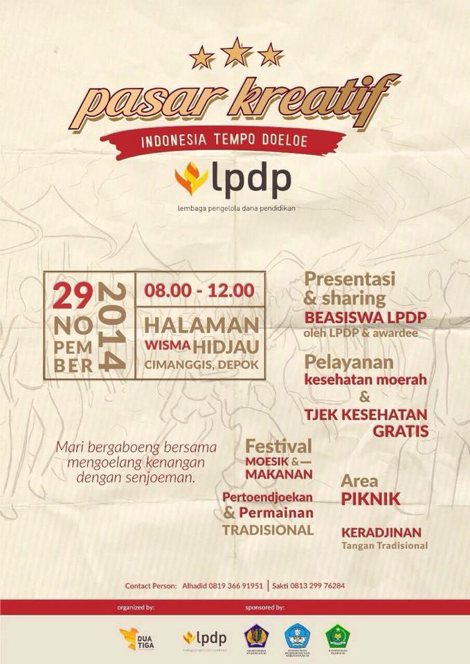 LPDP Series #4: Pasar Kreatif dan Sharing Beasiswa LPDP (1/2)